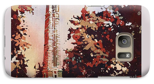 Galaxy Case featuring the painting Ncsu Bell-tower II by Ryan Fox