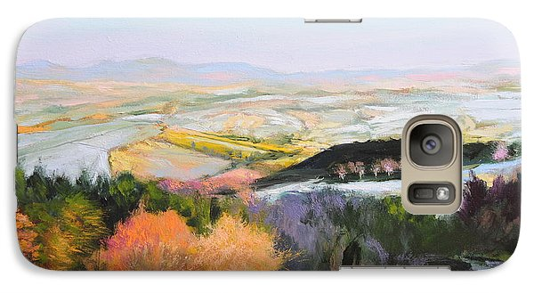 Galaxy Case featuring the painting Near Clawddnewydd In North Wales. by Harry Robertson