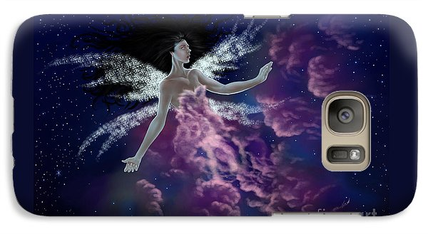 Galaxy Case featuring the painting Nebula by Amyla Silverflame