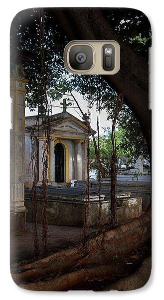 Galaxy Case featuring the photograph Necropolis Cristobal Colon Havana Cuba Cemetery by Charles Harden