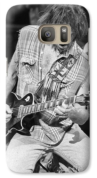 Neil Young Galaxy S7 Case by David Plastik