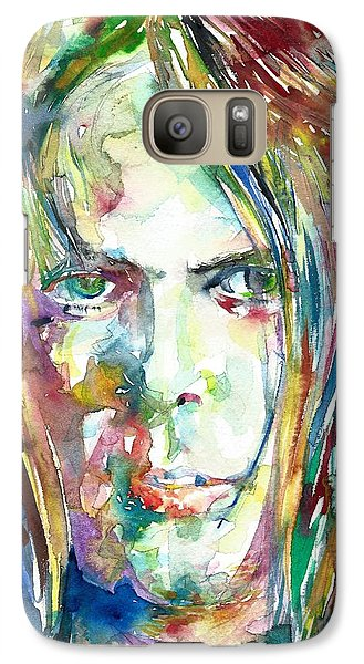 Neil Young Galaxy S7 Case - Neil Young Portrait by Fabrizio Cassetta