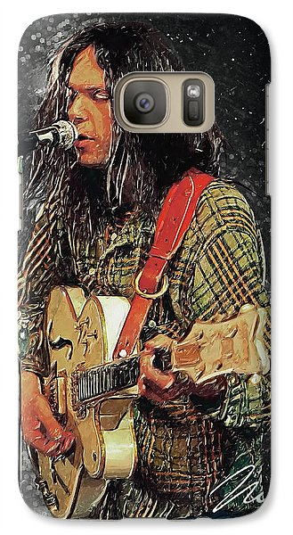 Neil Young Galaxy Case by Taylan Apukovska