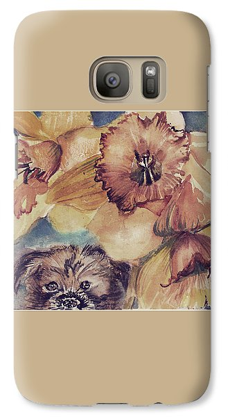 Galaxy Case featuring the painting Nellie Mae by Mindy Newman