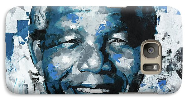 Galaxy Case featuring the painting Nelson Mandela II by Richard Day