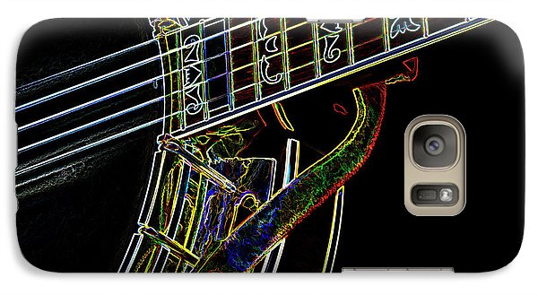Galaxy Case featuring the photograph Neon Banjo  by Wilma Birdwell