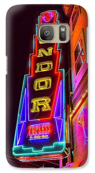 Condor Galaxy S7 Case - Neon Condor San Francisco by Garry Gay