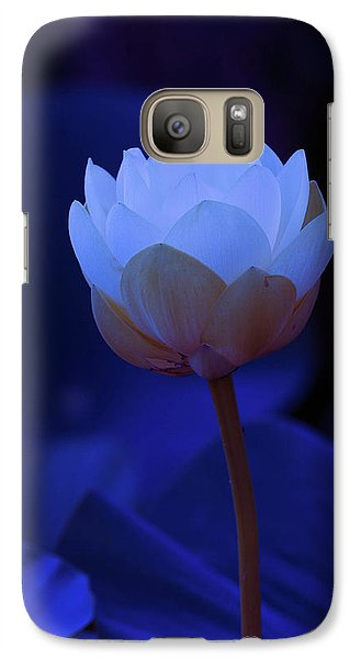 Galaxy Case featuring the photograph Neon Lotus by Carolyn Dalessandro