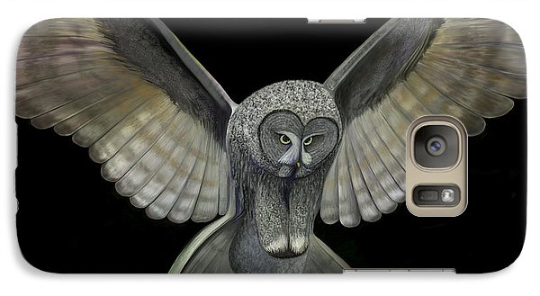 Galaxy Case featuring the digital art Neon Owl by Rand Herron