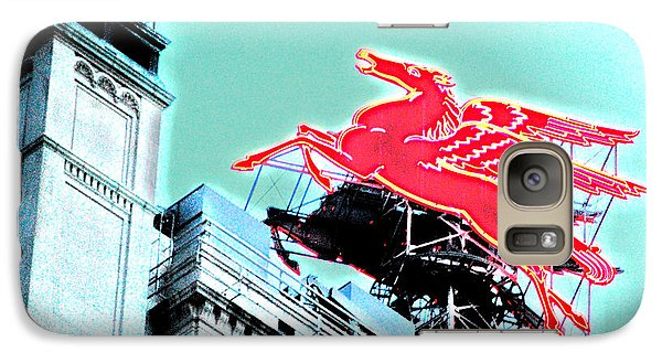 Neon Pegasus Atop Magnolia Building In Dallas Texas Galaxy S7 Case