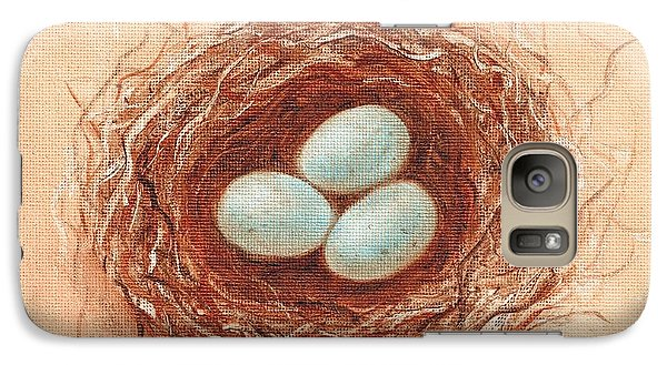Galaxy Case featuring the painting Nest In Umber by Pam Talley