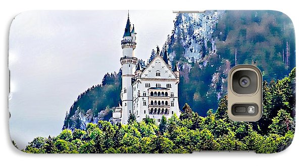 Galaxy Case featuring the photograph Neuschwanstein Castle With A Glider by Joseph Hendrix