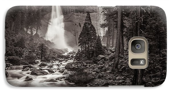Galaxy Case featuring the photograph Nevada Fall Monochrome by Scott McGuire