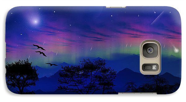 Galaxy Case featuring the photograph Neverending Nights by Bernd Hau