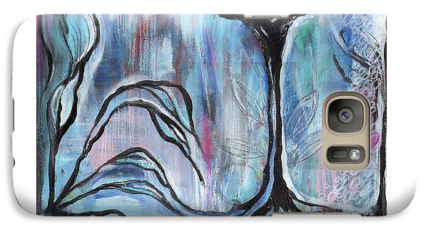 Galaxy Case featuring the painting New Beginnings by Angela Armano