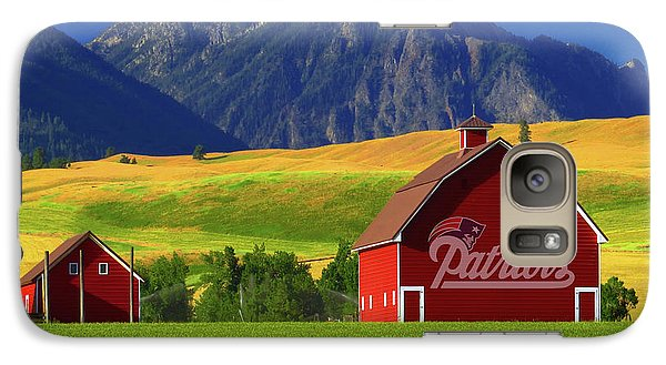 Galaxy Case featuring the photograph New England Patriots Barn by Movie Poster Prints