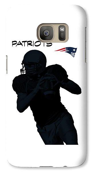 Galaxy Case featuring the digital art New England Patriots Football by David Dehner