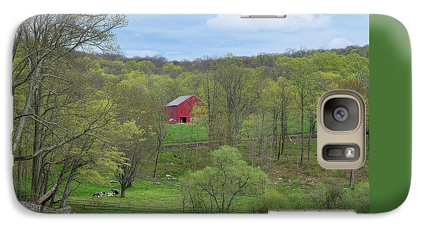 Galaxy Case featuring the photograph New England Spring Pasture by Bill Wakeley