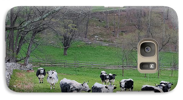Galaxy Case featuring the photograph New England Spring Pasture Square by Bill Wakeley