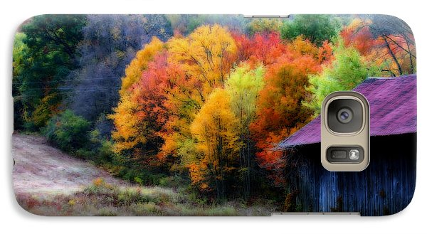 Galaxy Case featuring the photograph New England Tobacco Barn In Autumn by Smilin Eyes  Treasures