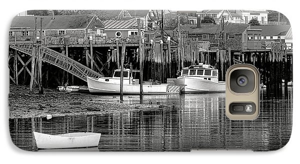 Galaxy Case featuring the photograph New Harbor Docks by Olivier Le Queinec