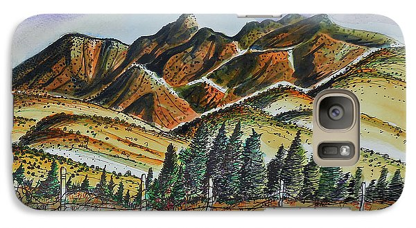 Galaxy Case featuring the painting New Mexico Back Country by Terry Banderas