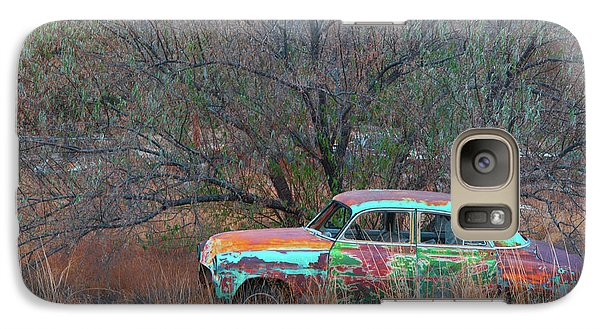 Galaxy Case featuring the photograph New Mexico Blue by Carolyn Dalessandro