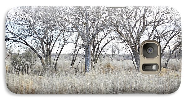 Galaxy Case featuring the photograph New Mexico Desert Tree Field by Andrea Hazel Ihlefeld