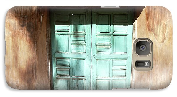 Galaxy Case featuring the photograph New Mexico Dreamy Rustic Door by Andrea Hazel Ihlefeld