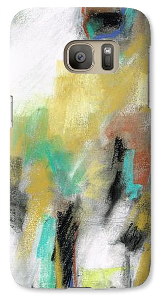 Galaxy Case featuring the painting New Mexico Horse 4 by Frances Marino