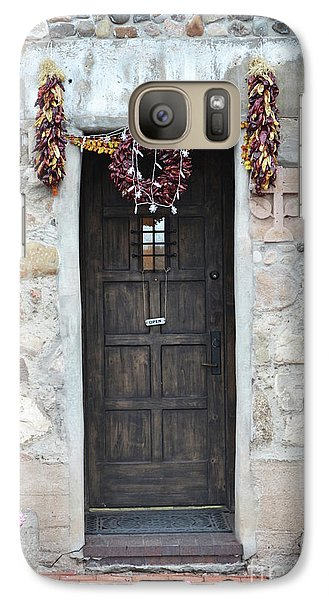 Galaxy Case featuring the photograph New Mexico Red Chili Ristras Door by Andrea Hazel Ihlefeld