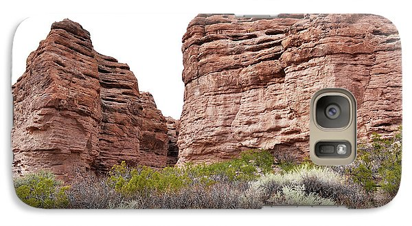 Galaxy Case featuring the photograph New Mexico Red Rock Mountain Canyon by Andrea Hazel Ihlefeld