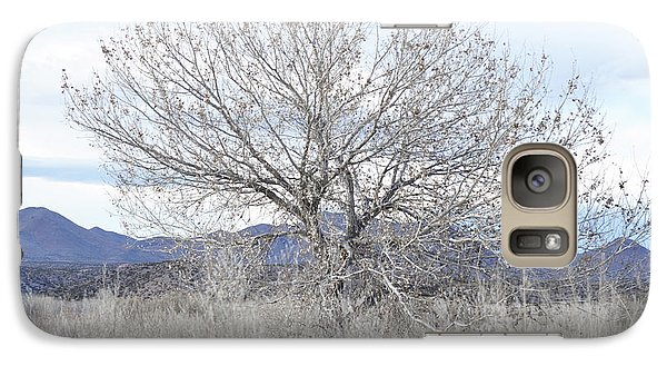 Galaxy Case featuring the photograph New Mexico Tree Mountain Landscape by Andrea Hazel Ihlefeld