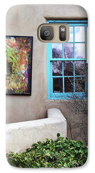 Galaxy Case featuring the photograph New Mexico Turquoise Window Landscape by Andrea Hazel Ihlefeld