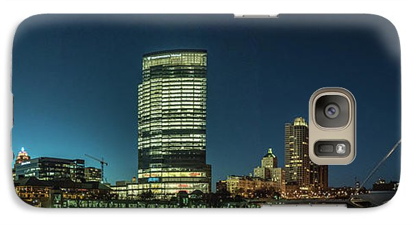 Galaxy S7 Case featuring the photograph New Milwaukee Skyline by Randy Scherkenbach
