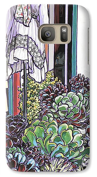 Galaxy Case featuring the painting New Moon Boutique by Nadi Spencer