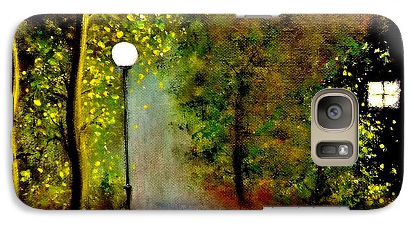 Galaxy Case featuring the painting New Moon... by Cristina Mihailescu