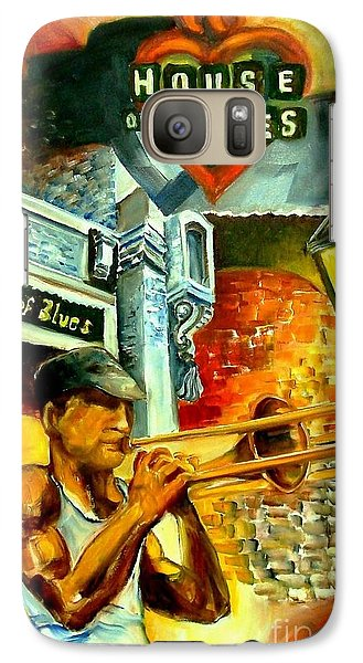 Trombone Galaxy S7 Case - New Orleans' House Of Blues by Diane Millsap