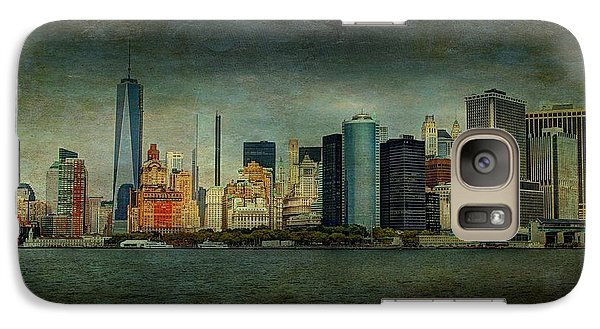Galaxy Case featuring the mixed media New York After Storm by Dan Haraga