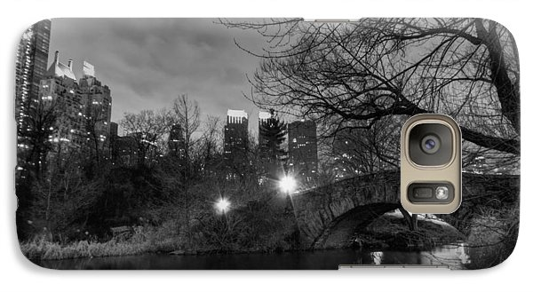 Galaxy Case featuring the photograph New York - Central Park 006 Bw by Lance Vaughn