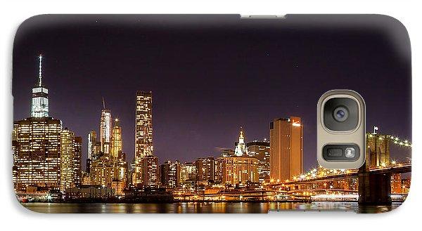 New York City Lights At Night Galaxy S7 Case by Az Jackson