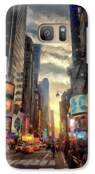 Galaxy Case featuring the photograph New York City Lights by Lois Bryan