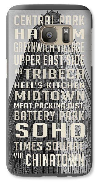 New York City Subway Stops Flat Iron Building Galaxy S7 Case