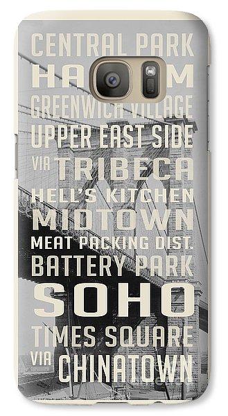 New York City Subway Stops Vintage Brooklyn Bridge Galaxy S7 Case