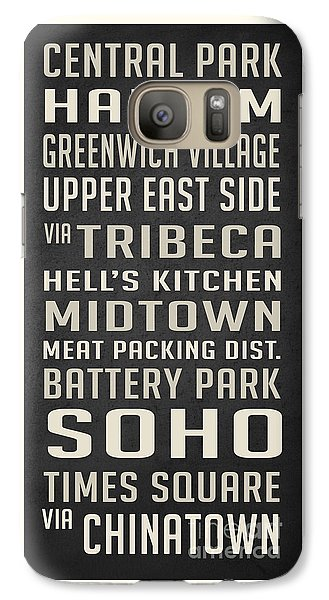 New York City Subway Stops Vintage Galaxy S7 Case