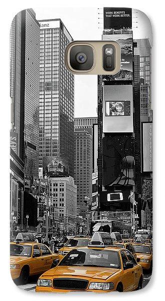 City Scenes Galaxy S7 Case - New York City Times Square  by Melanie Viola
