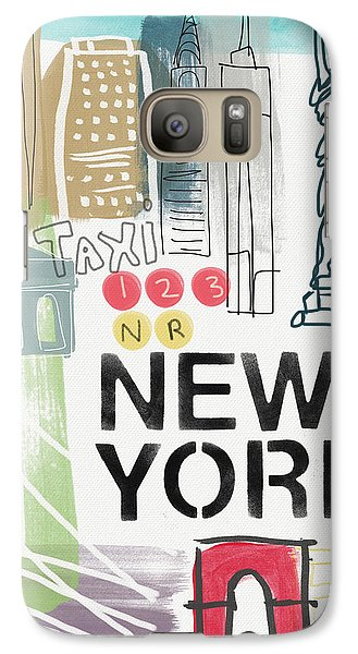 New York Cityscape- Art By Linda Woods Galaxy S7 Case by Linda Woods