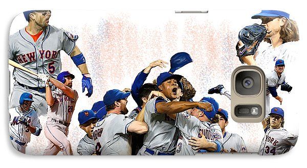 Galaxy Case featuring the painting New York Mets 2015  Metropolitan Champions by Iconic Images Art Gallery David Pucciarelli