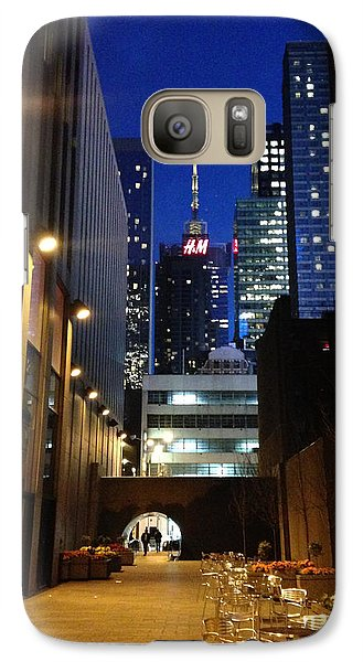 Galaxy Case featuring the photograph New York Night by Helen Haw