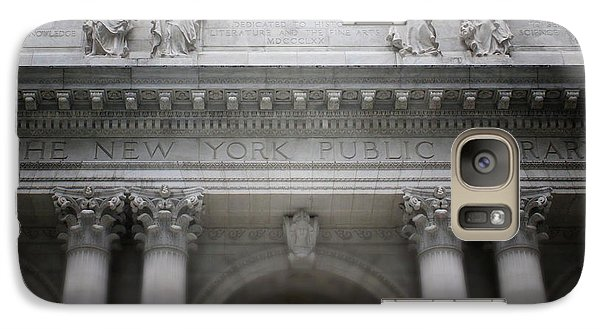 Galaxy Case featuring the mixed media New York Public Library- Art By Linda Woods by Linda Woods